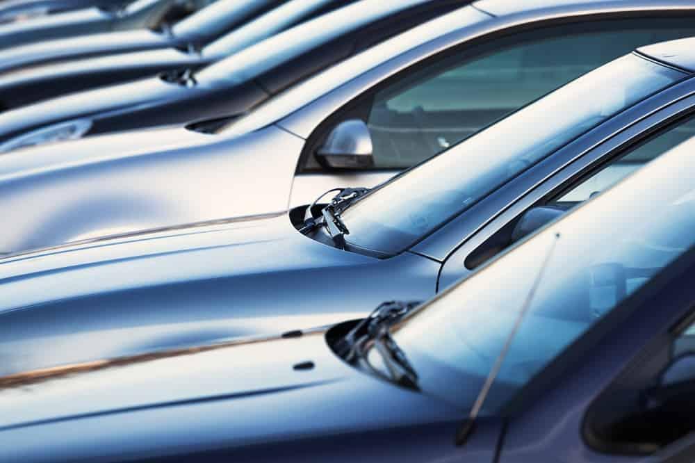 Zaparkowe auta, parking