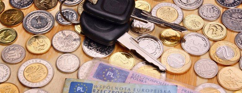 kluczyki, monety, dokumenty